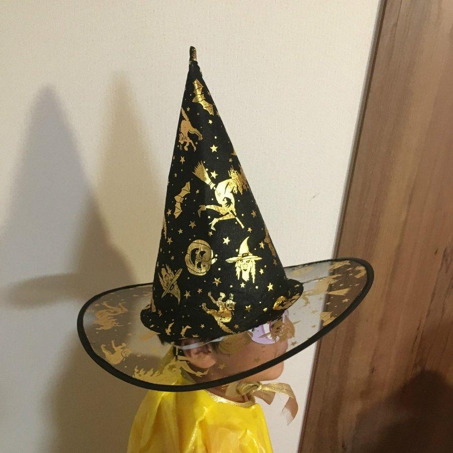 ハロィン 帽子 2枚セット ハロウィンハット 魔女帽子 魔女使い コスプレ 変装 仮装 キャップ フリーサイズ