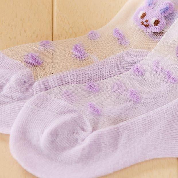 5足組 靴下 キッズ おしゃれ キャラクター くるぶし かわいいうさぎ レース ストッキング 子供 女の子 男の子 ジュニア ベビー ソックス クルーソックス