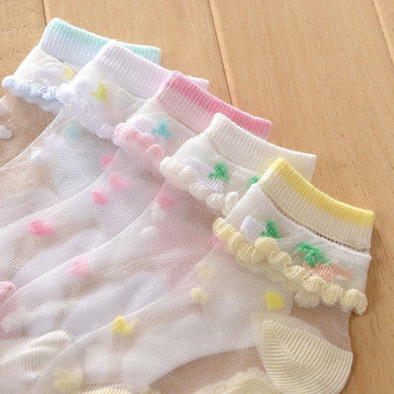 靴下 キッズ ソックス おしゃれ いちご くるぶし かわいい レース ストッキング 子供 女の子 ジュニア ベビー ソックス クルーソックス スニーカー 通気 涼しい