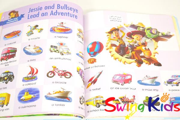 DWE ディズニー英語システム 最新マイ・ビッグ・ブック・オブ・ワーズ マジックペン対応 クリーニング済 2019年購入 新品同様【20210104343】
