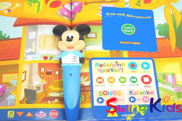 マジックペンアドベンチャーセット マジシャン付 クリーニング済 2018年購入絵本新品同様大多数 DWE ディズニー英語システム 【20210203537】