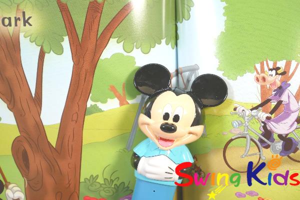 DWE ディズニー英語システム ミッキーマジックペンアドベンチャーセット クリーニング済 2018年購入 絵本キレイ 【20210303537】