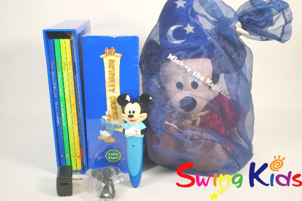 DWE ディズニー英語システム ミッキーマジックペンアドベンチャーセット クリーニング済 2018年購入 未使用・新品同様大多数 【20210609637】