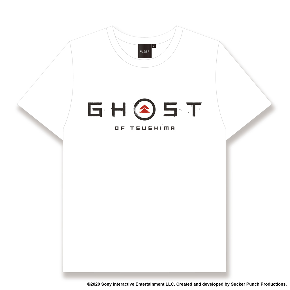 Ghost of Tsushima ロゴ&家紋 Tシャツ (SAMURAIデザイン) ホワイト