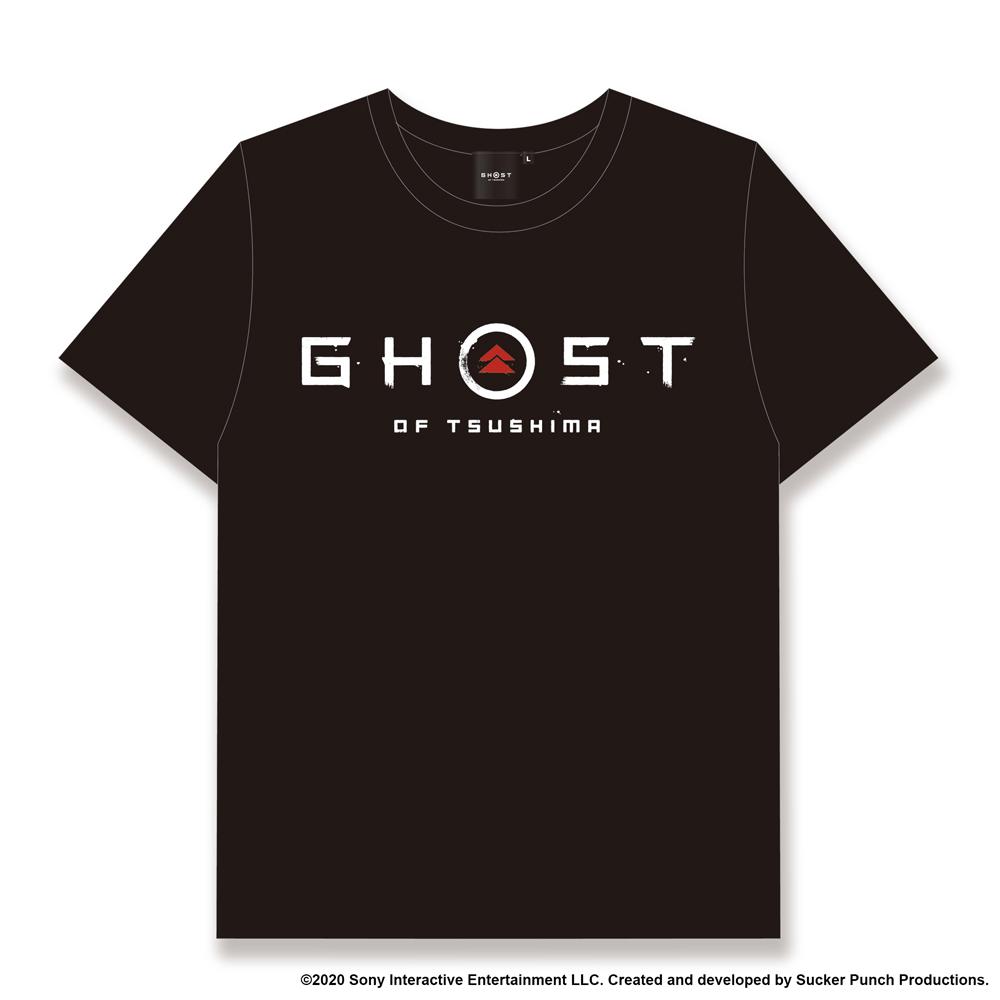 Ghost of Tsushima ロゴ&家紋 Tシャツ (SAMURAIデザイン) ブラック