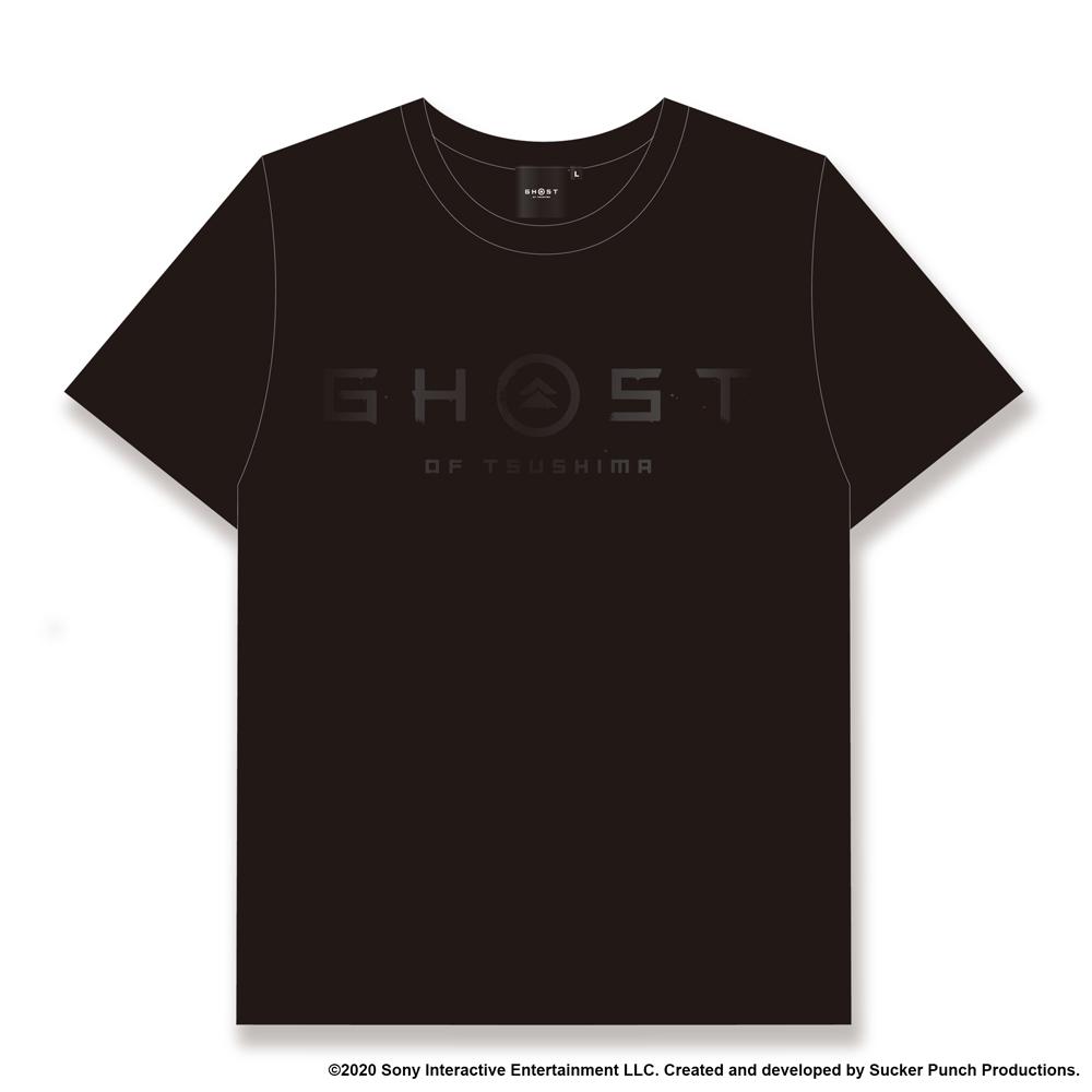 Ghost of Tsushima ロゴ&家紋 Tシャツ (GHOSTデザイン) ブラック