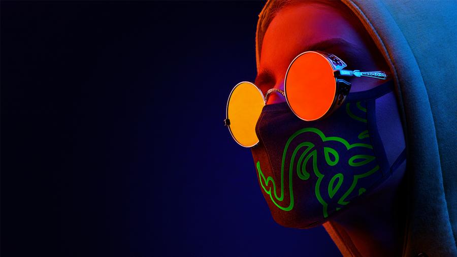 Razer Cloth Mask -グリーン 布マスク  【日本正規代理店保証品】