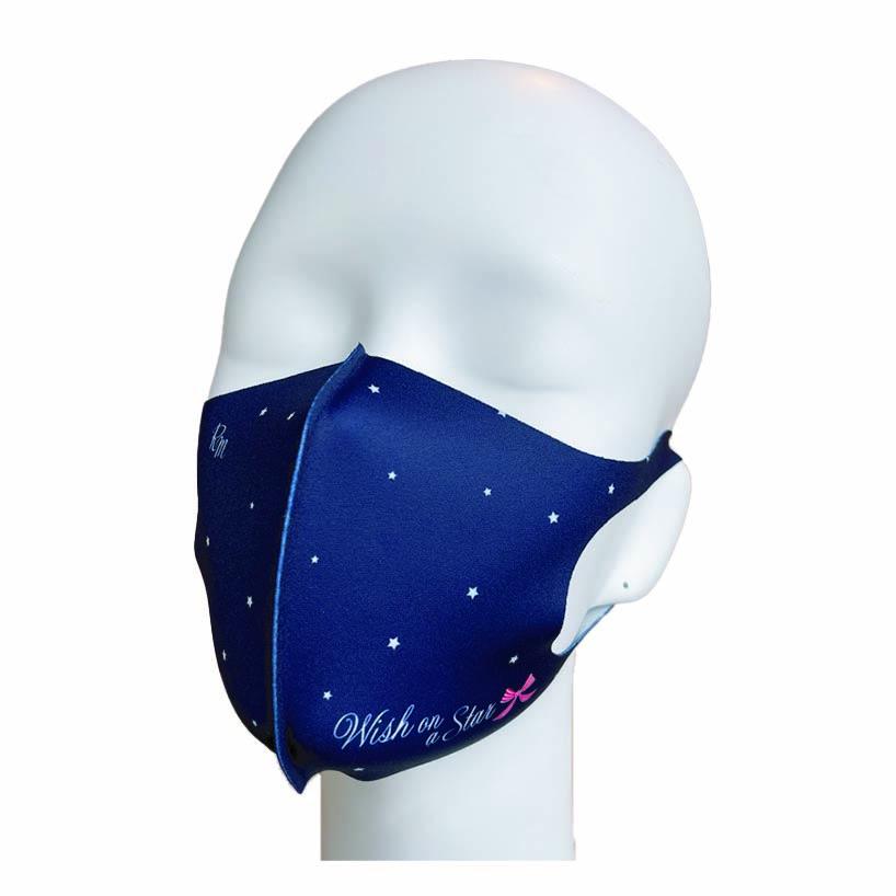 洗えるプリントマスク(スターリボン)ハンカチ連動