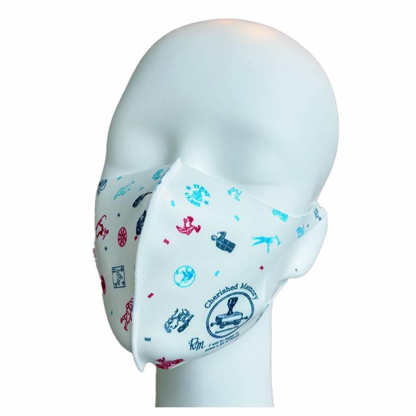 洗えるプリントマスク(スタンプの思い出)ハンカチ連動