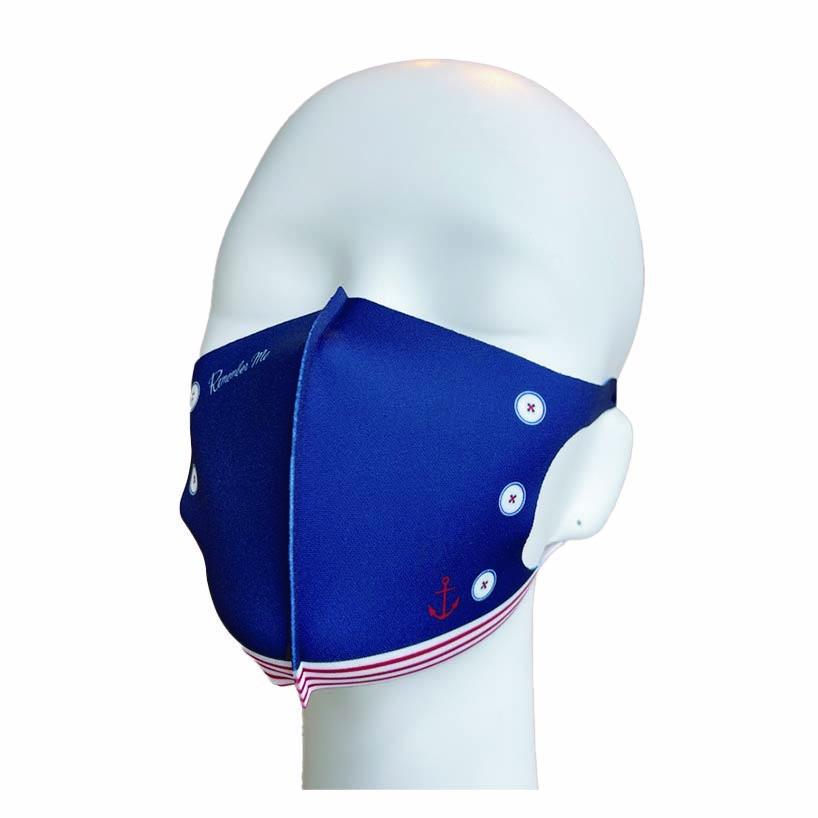 洗えるプリントマスク(マリンファッション)ハンカチ連動