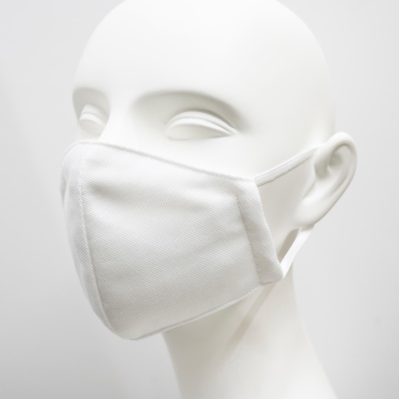 洗えるマスク(鹿の子タイプ)ホワイト 2枚セット