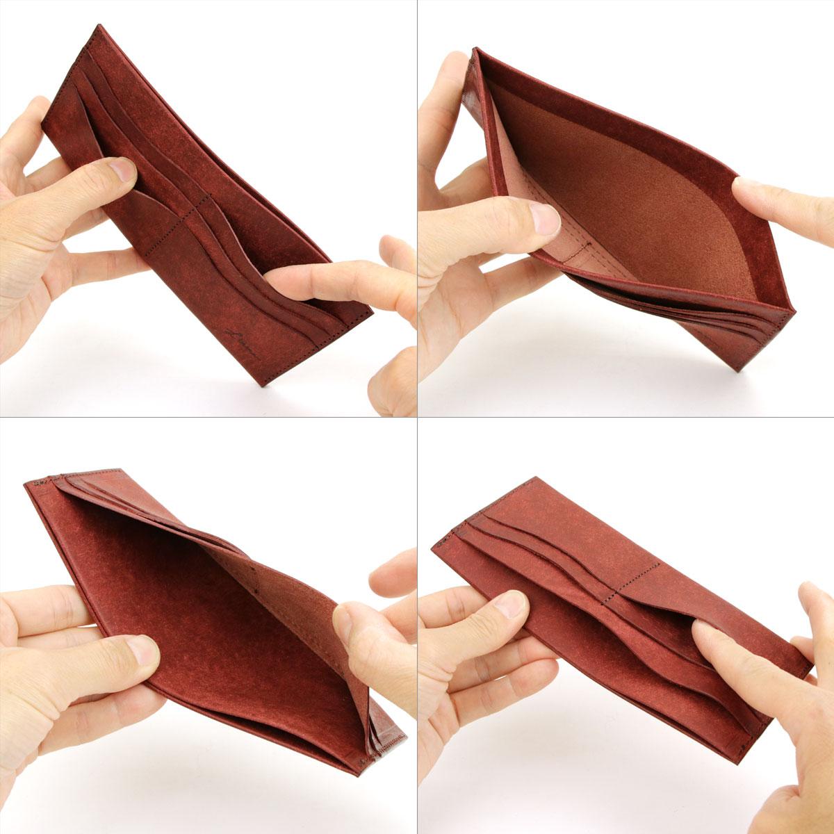Litsta シングルビルケース Single Bill Case 札入れ 極薄財布 長財布 小銭入れなし 薄い 薄型 日本製 本革 イタリアンレザー PUEBLO プエブロ 牛革 リティスタ