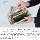 長財布 ラウンドファスナー 牛革 日本製 箔押し加工 花飾り アップリケ レザーフラワー 立体 ゴールド シルバー 本革 レディース innocent Sac イノセント・サック