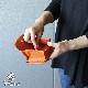 二つ折り財布 ハーフウォレット box型小銭入れ 天然シボ フルタンニンレザー ソフトタンニンレザー 龍野 牛革 本革 日本製 メイドインジャパン レディース Folna フォルナ