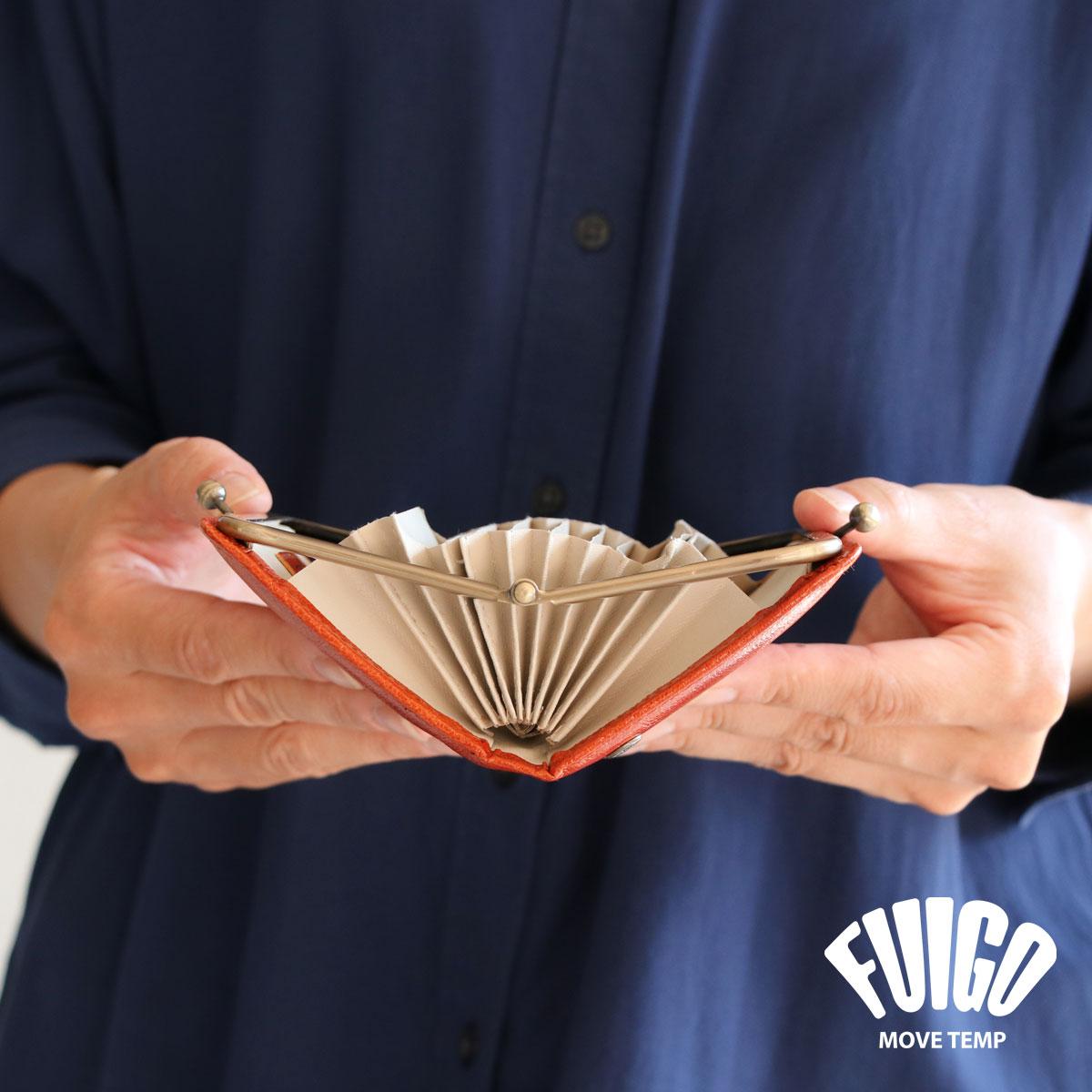カードホルダー カードケース ジャバラ がま口 がまぐち ミニ財布 MOVETEMP ムーブテンプ SPARK スパーク FUIGO 本革 牛革 山羊革 ユニセックス