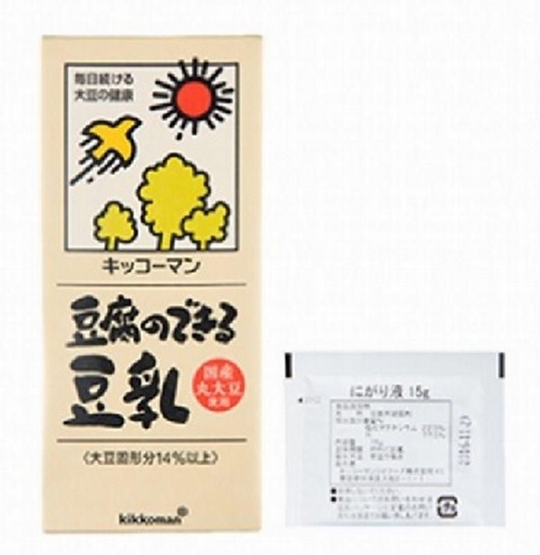 キッコーマンソイ にがり付豆腐のできる豆乳(国産丸大豆使用) 1000ml(にがり15g) 紙パック 豆乳 豆腐 国産 大豆 業務用
