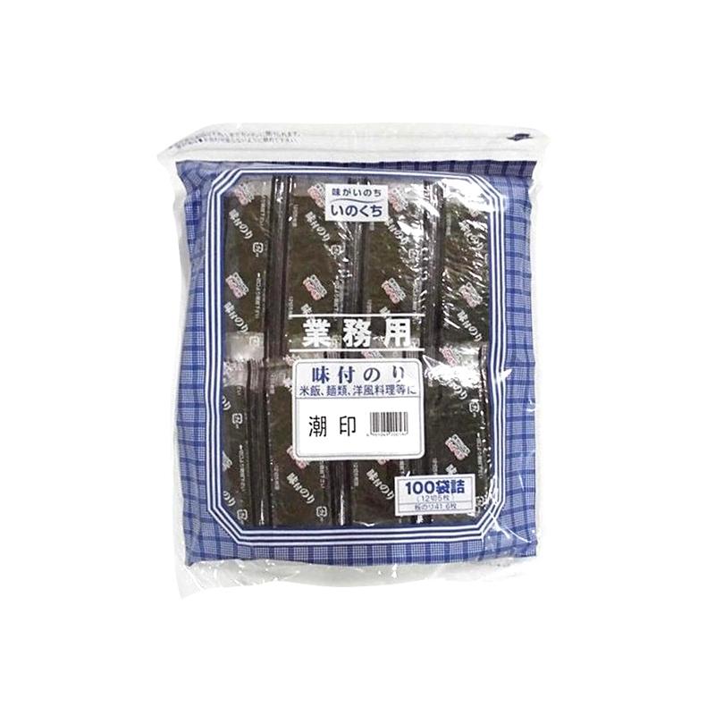 【常温品】井口食品 味付けのり 潮印 100袋詰 12切5枚 業務用 味付け海苔 のり 海苔 ご飯 おにぎり 調味料