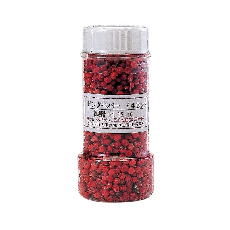 【常温品】ジーエスフード 業務用 ピンクペパー 40g 調味料 胡椒 ペッパー スパイス 香辛料 トッピング
