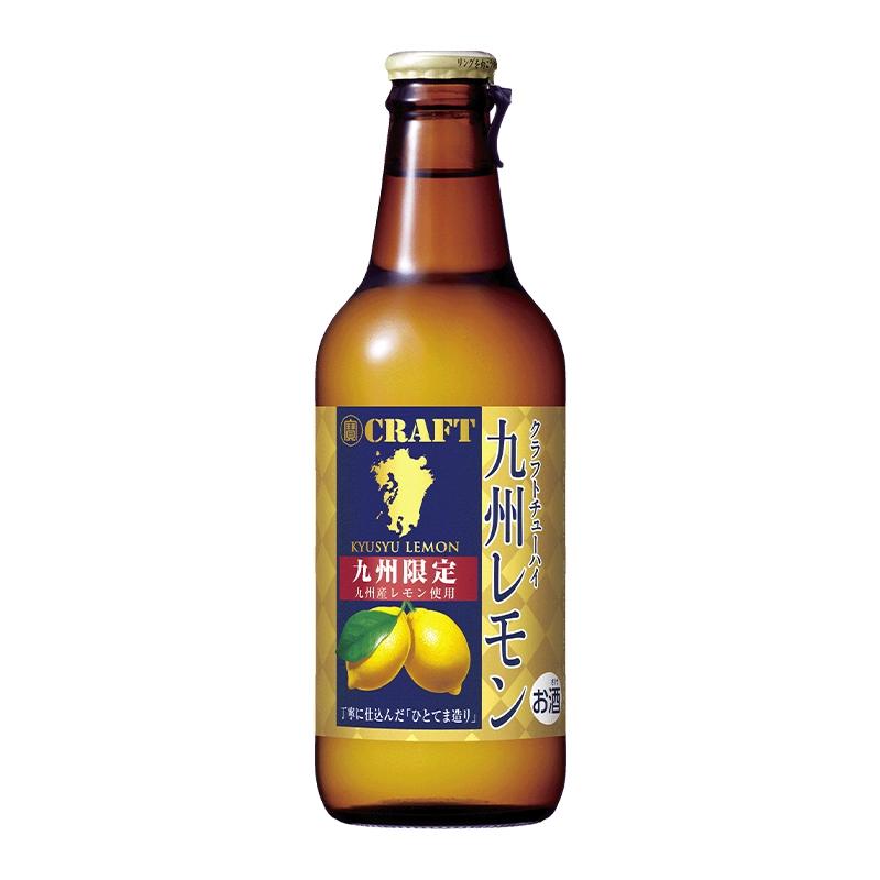 【常温品】寶 CRAFT 九州レモン 330ml クラフト チューハイ アルコール 8% 九州産 レモン使用 ストレート 混濁果汁 ひとてま造り製法 宝酒造