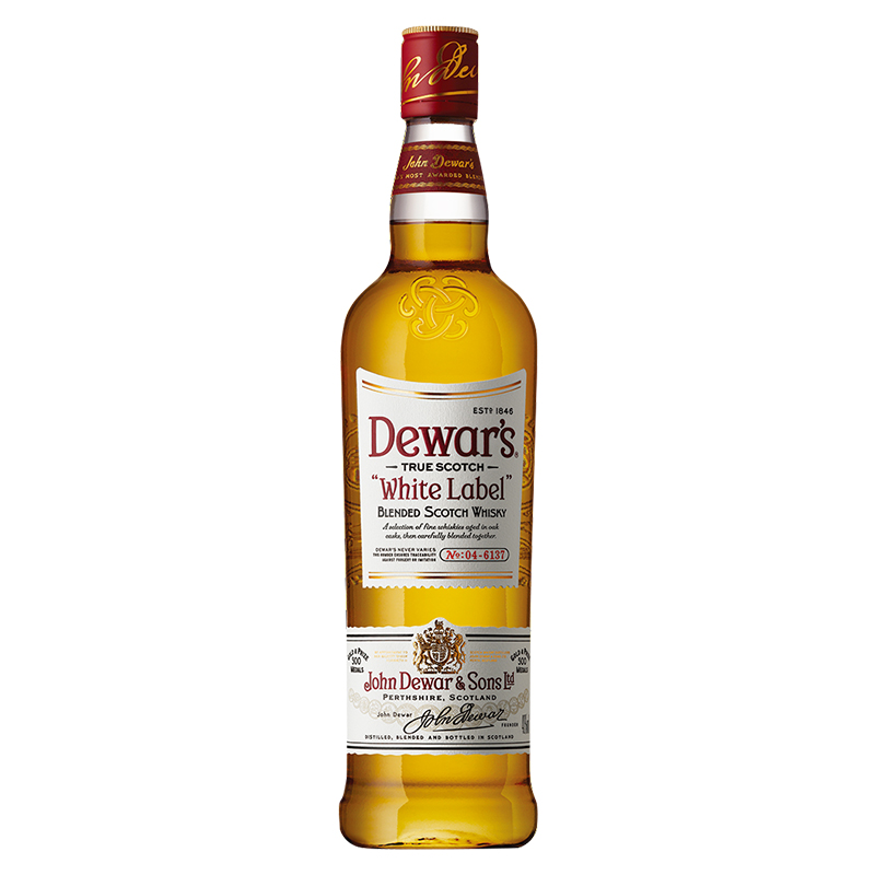 【常温品】デュワーズ ホワイト・ラベル 700ml ウイスキー アルコール 40度 スコットランド産 スタンダード スコッチ バカルディジャパン