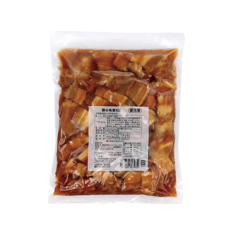 ケンコーマヨネーズ 業務用 豚の角煮KS 1kg 固形量700g 角煮 豚肉 惣菜 おかず 中華 簡単 お手軽 冷凍