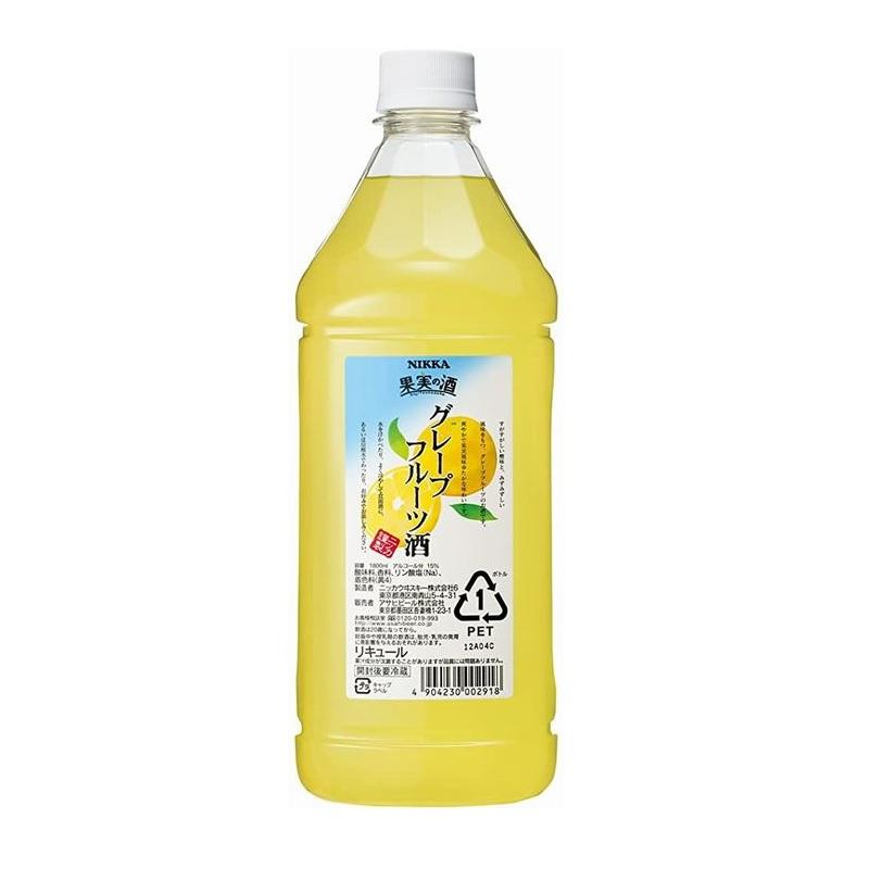 【常温品】ニッカ 果実の酒 グレープフルーツ酒 1800ml PET リキュール 15% 酒 業務用