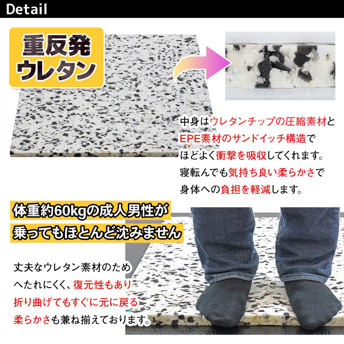 【訳あり】 重反発 マット 体操 ヨガ エクササイズ ボルダリング 防音 連結可能 180×60×4cm