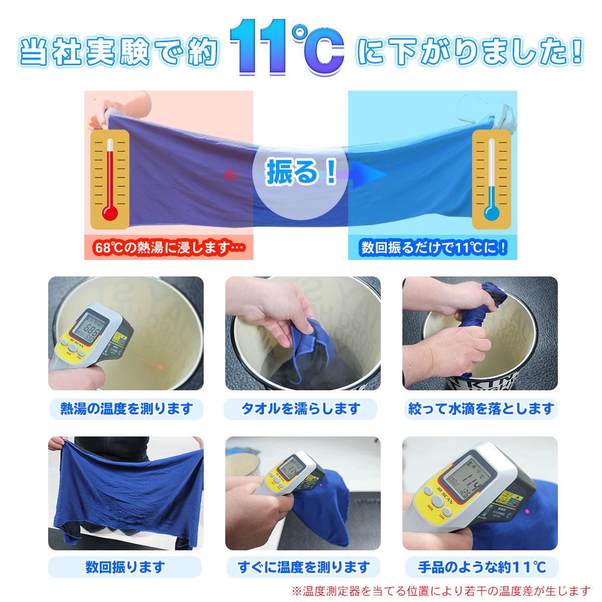 クールタオル 冷感 冷却 タオル 熱中症 暑さ対策 ひんやり スポーツタオル 単品