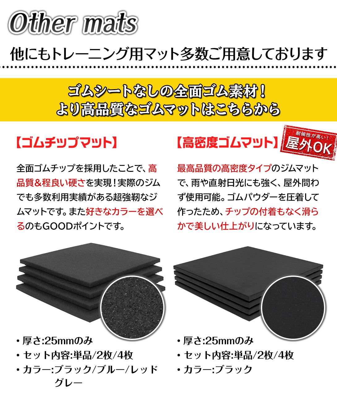 ゴム フロアマット ジム マット トレーニング ラバーマット 重量器具 50角 厚さ20mm 4枚セット