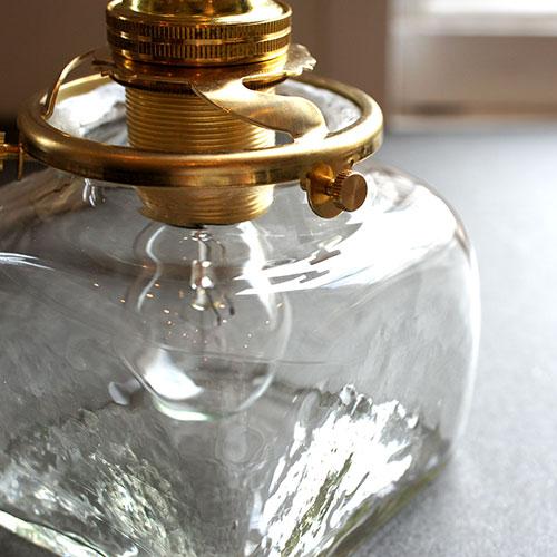 安土草多 ペンダントライト [E17] 角瓶