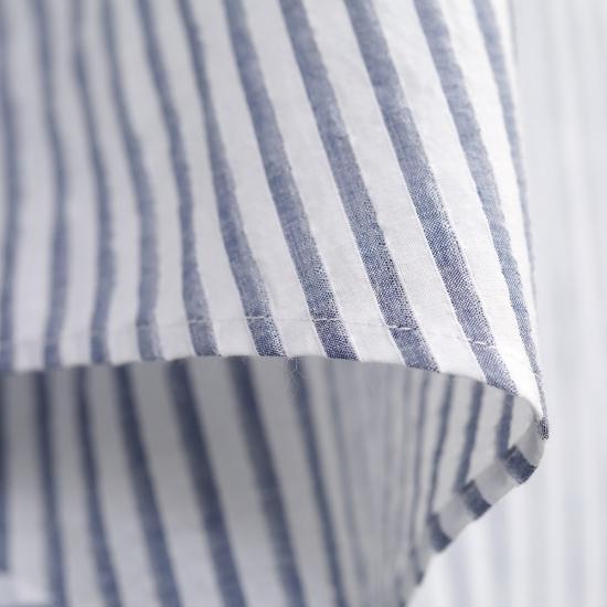 HUIS|空羽コードレーンワイドブラウス BLUE stripe