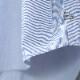 HUIS 8分袖コードレーンワイドブラウス blue