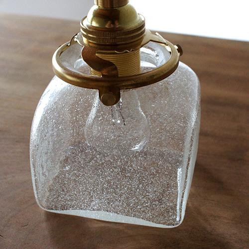 安土草多|ペンダントライト [E17] 角瓶 泡