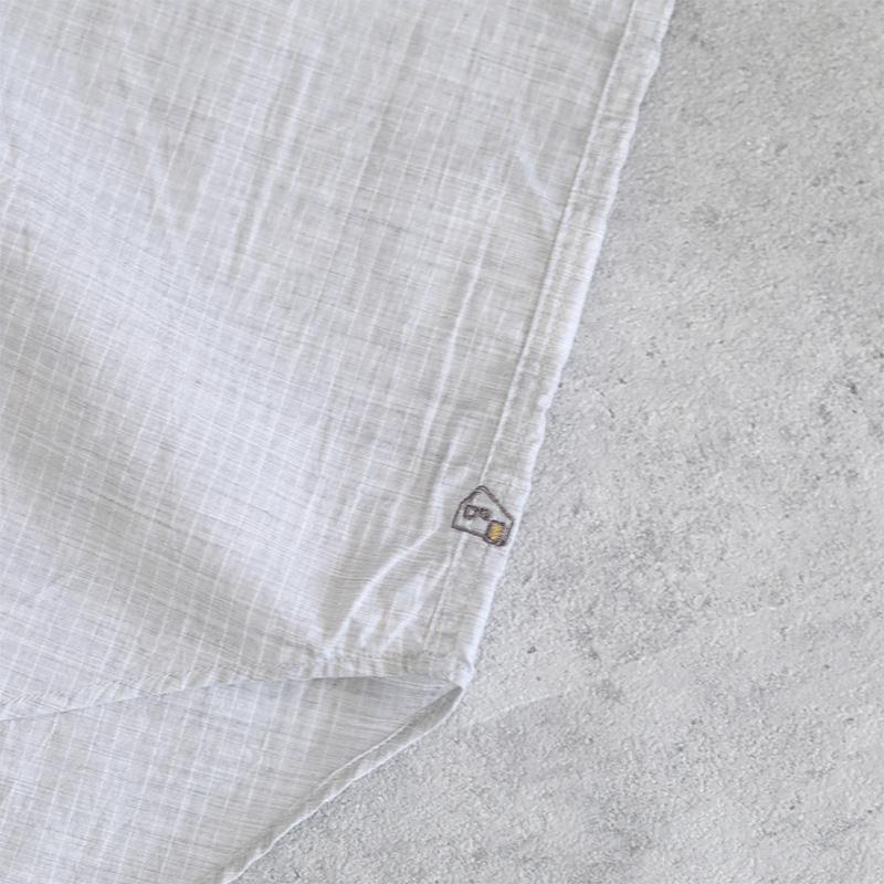 HUIS|コードレーンフレンチワイドブラウス トップ糸グレー