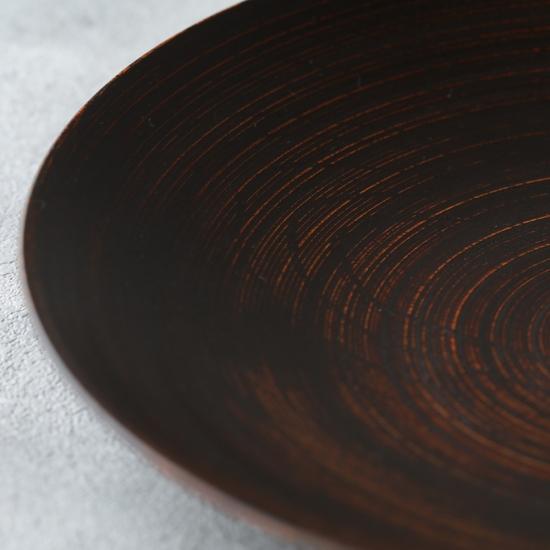 蝶野秀紀|欅カレー皿Φ8