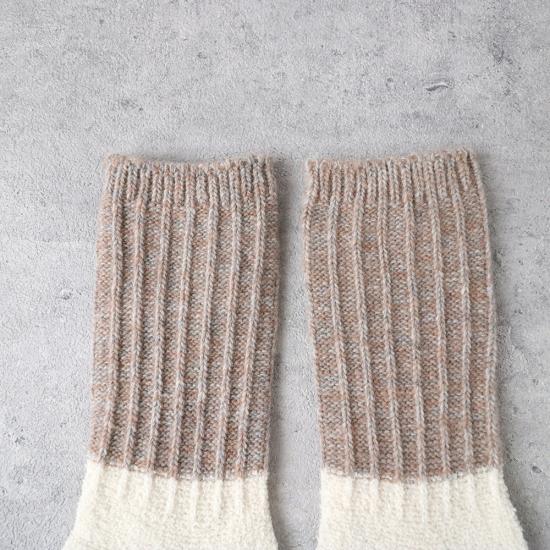 サルビア ざっくり編みくつした ツイストウール ショート ゆきのひ