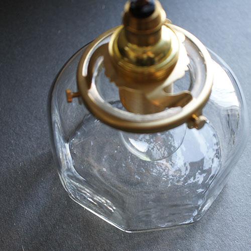 安土草多|ペンダントライト [E17] 八角平瓶