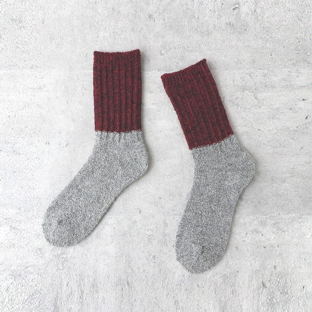 サルビア ざっくり編みくつした ツイストウール ショート ともしび