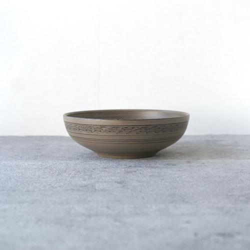 蝶野秀紀|ミズメ三島風浅鉢φ5白