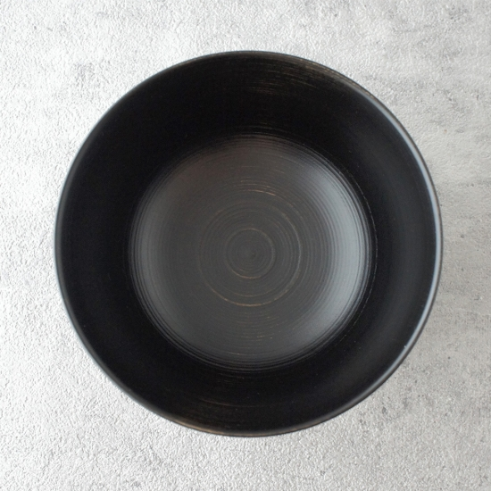蝶野秀紀|栃筋目飯椀φ4.2黒