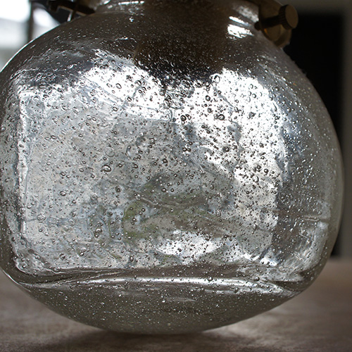 安土草多|ペンダントライト [E17] 角球 泡