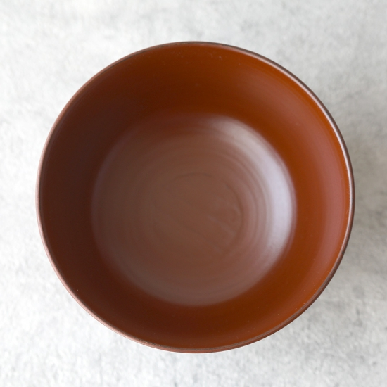 蝶野秀紀|栃筋目飯椀φ4.2弁柄