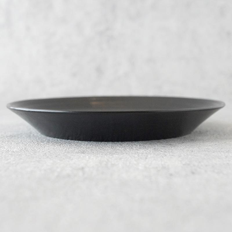 蝶野秀紀|栃カンナ目茶托 φ4.5 黒