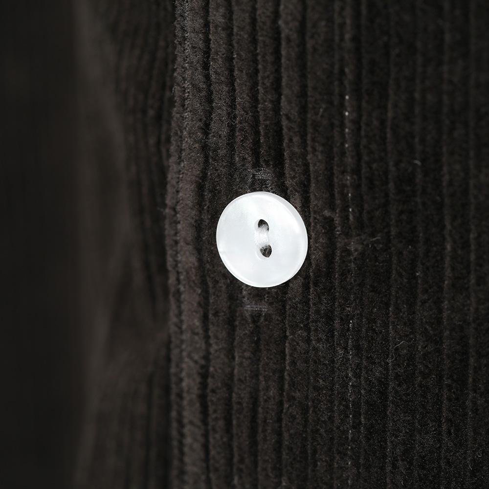 HUIS|シャトルコーデュロイロングシャツ KHAKI【ユニセックス】