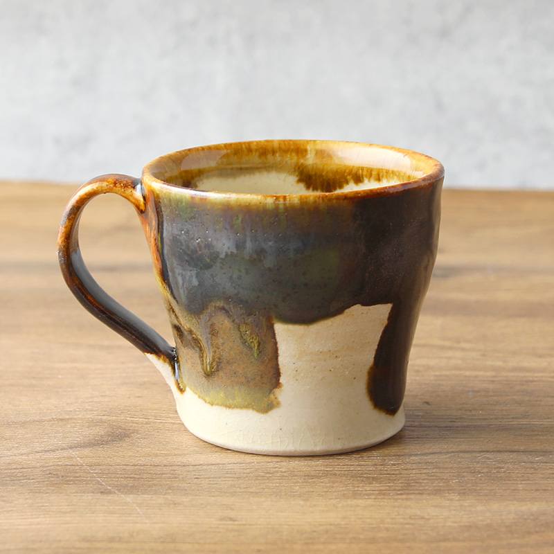 近藤文 コーヒーカップ パッチワーク