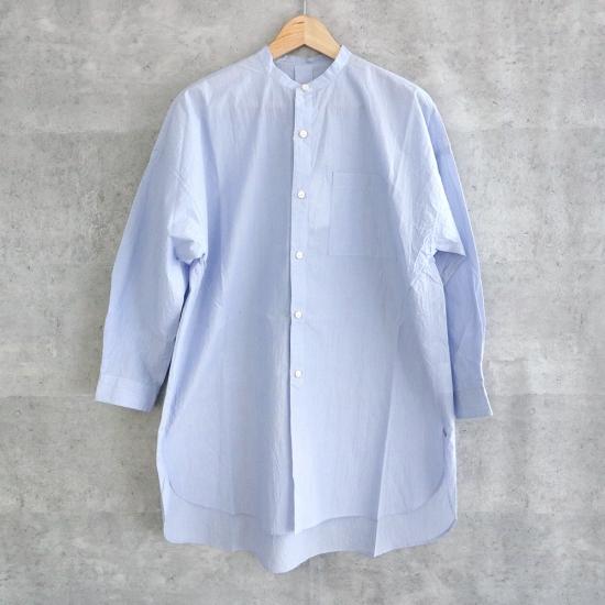 HUIS タイプライタークロスバンドカラーロングシャツ【ユニセックス】