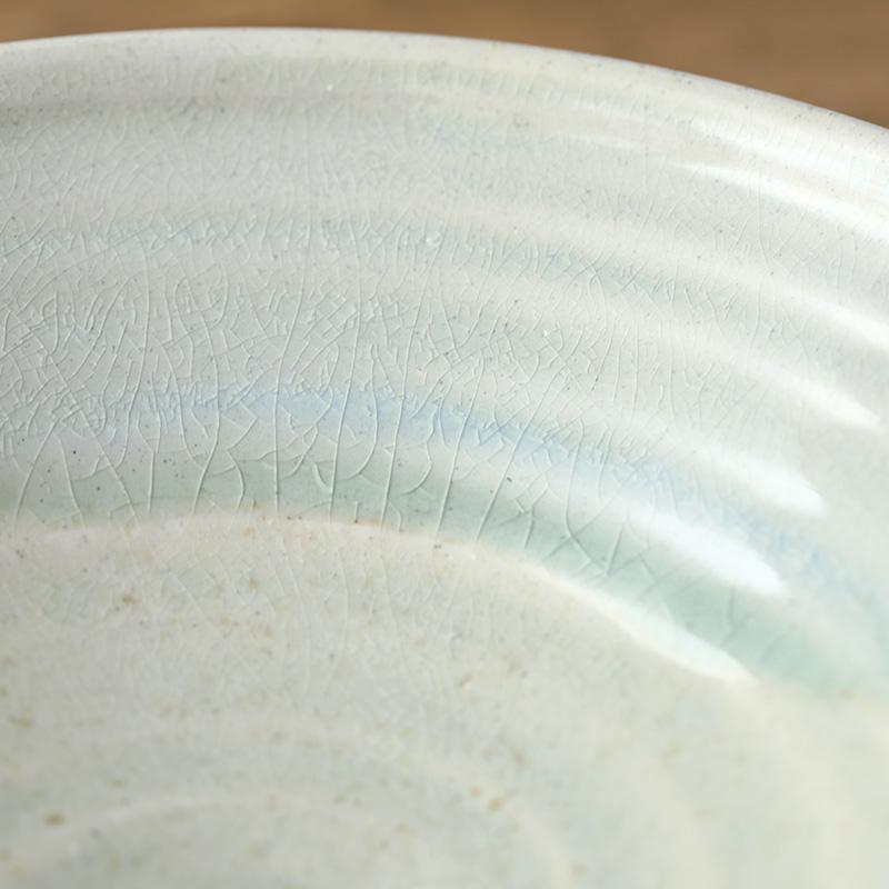 平岡仁 粉引片口鉢 L