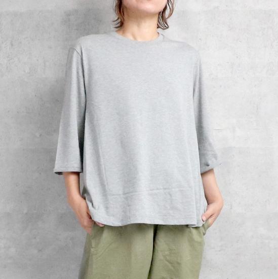 1dozen オーガニックコットン 天竺 Tシャツ Top Gray