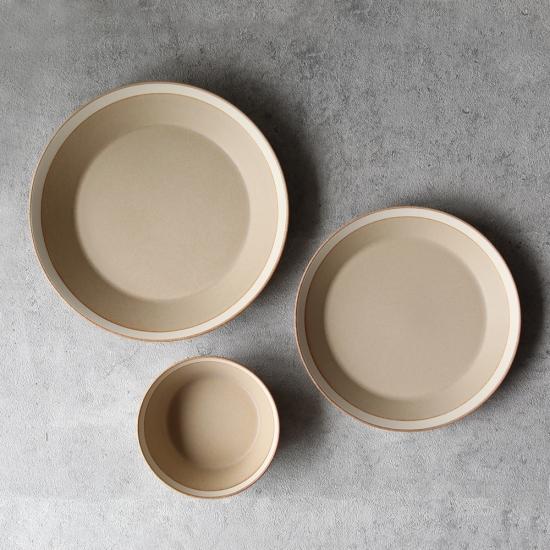 yumiko iihoshi porcelain × 木村硝子店|dishes 230 plate / matte  sand beige
