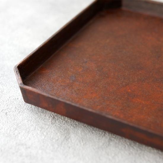 蝶野秀紀|和紙貼すみきり茶盆L 茶